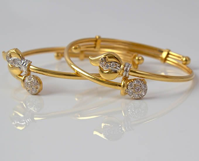 Baby bracelets - waale | Gold bangles design, Baby jewelry gold .