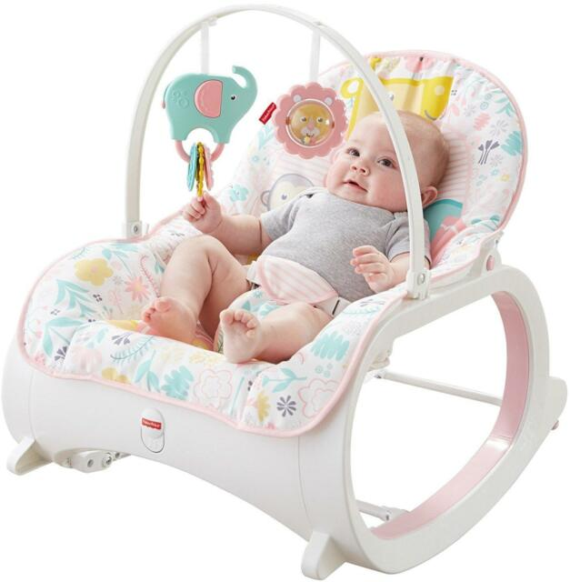 Pink Baby Rocker Infant Toys Play Toddler Seat Chair Soothing .