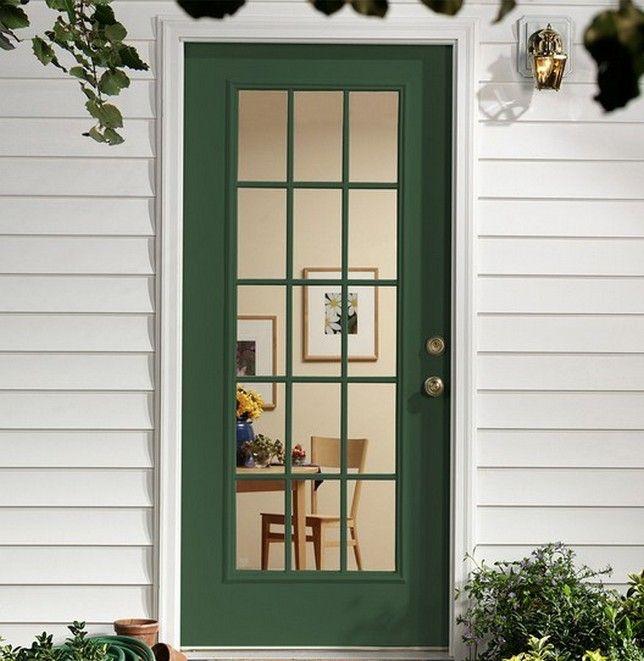 Solid Wood Exterior Back Doors Design in 2020 | Exterior decor .