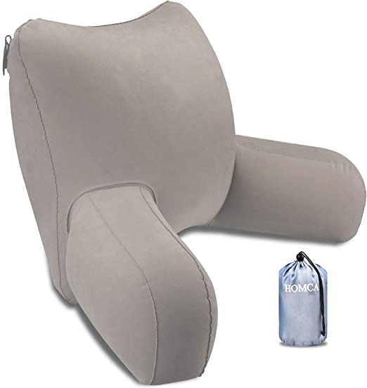 Amazon.com: HOMCA Reading Pillow, Inflatable Backrest Pillow with .