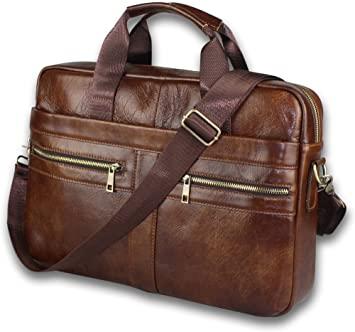 Amazon.com: BRA1NST0RM Genuine Leather Messenger Bag for Men .
