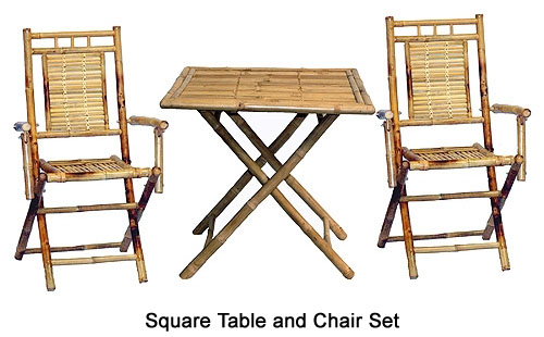 Bamboo Table and Chair Sets | Bamboo Products | Palapa Structur