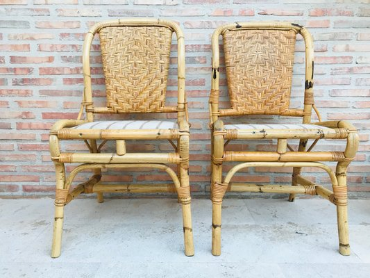 Mid-Century Bamboo Chairs, Set of 2 for sale at Pamo