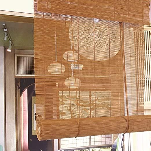 Amazon.com: Bamboo Blinds Natural Bamboo Roll-up Shutters Sun .