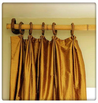 Do It Yourself Bamboo Curtain Rod. #DIY | Bamboo curtains, Bamboo .