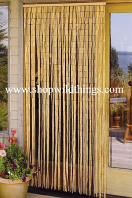"COMING SOON! Plain Bamboo Beaded Curtain 90 Strands 35"" x 75-78 ."
