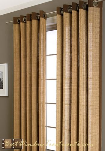 Plait Bamboo Curtain Panel Available In 3 Colors | Bamboo panels .