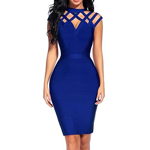 Blue Bandage Dress: Amazon.c