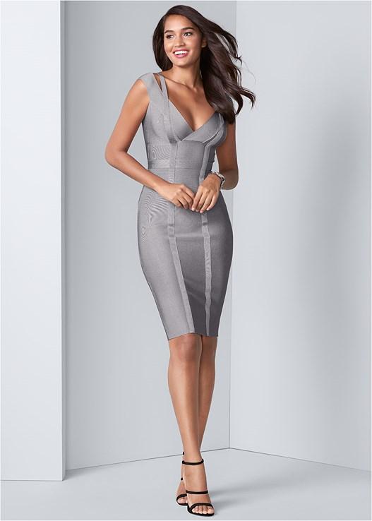 Bandage Dress in Grey | VEN
