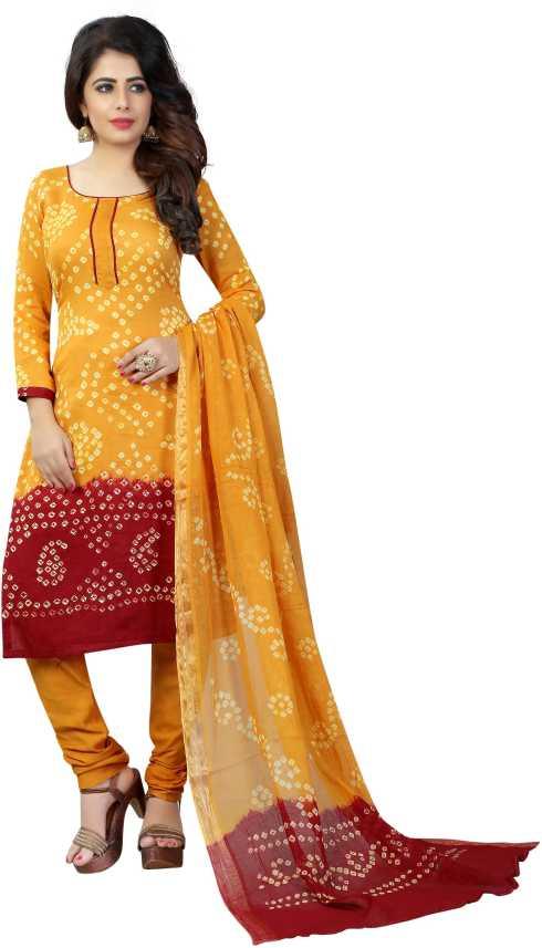 Shree Sondarya Bandhani Satin Blend Self Design Salwar Suit .