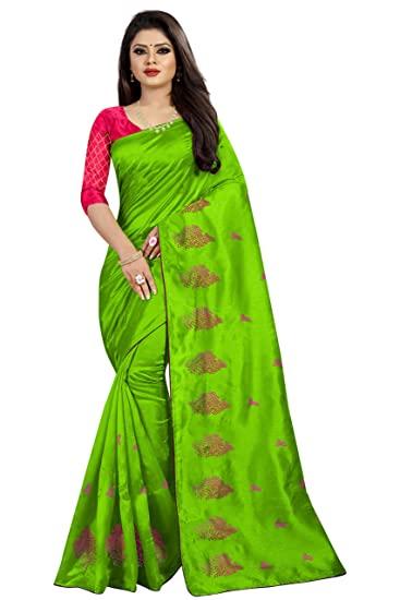 Buy Deepjyoti Creation Women's Embroidery Work Green Color Paper .