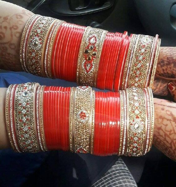 Buy Wedding Bangles For Bride from Shahi Handicraft, Ambala, India .