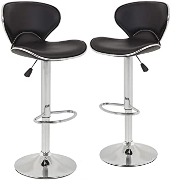 Amazon.com: Bar Stools Counter Height Adjustable Bar Chairs With .