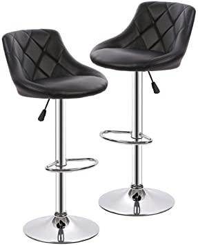 Amazon.com: Counter Height Bar Stools Set of 2 Barstools Swivel .