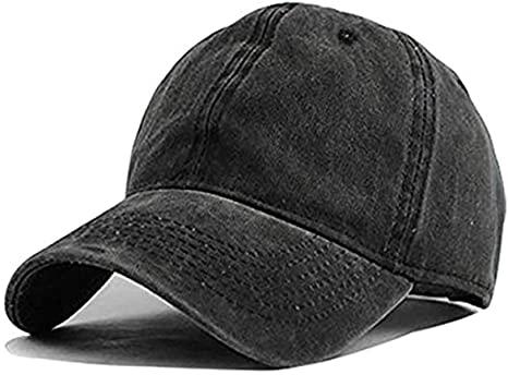 Unisex Vintage Washed Distressed Baseball Cap Twill Adjustable Dad .
