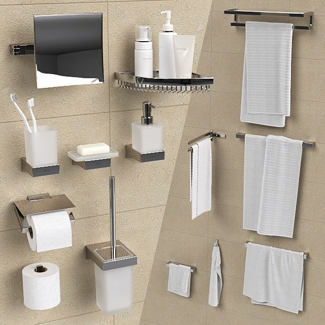 Bathroom accessories Grohe Selection Cube 3D | CGTrad