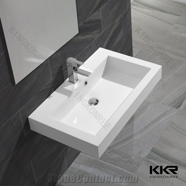 New Design Cast Poly Marble Stone Resin Wash Basins Solid .