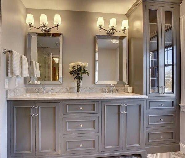 20 Wonderful Grey Bathroom Ideas With Furniture to Insipire You .