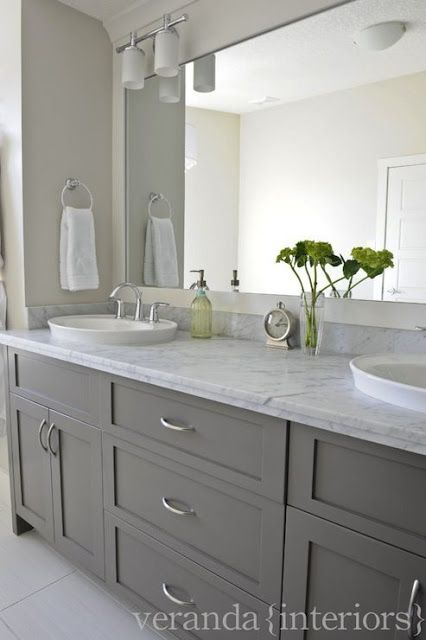 Gray Bathroom Cabinets (With images) | Bathroom remodel master .
