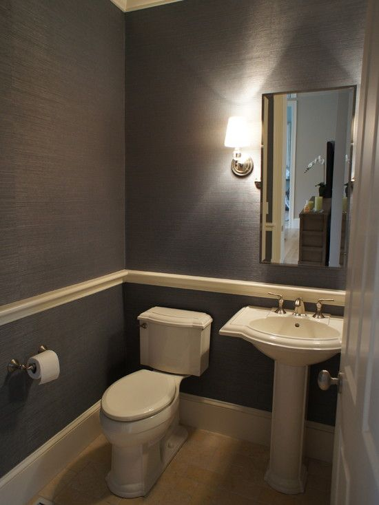 Awesome Pictures Of Chair Rail : Traditional Powder Room Simple .