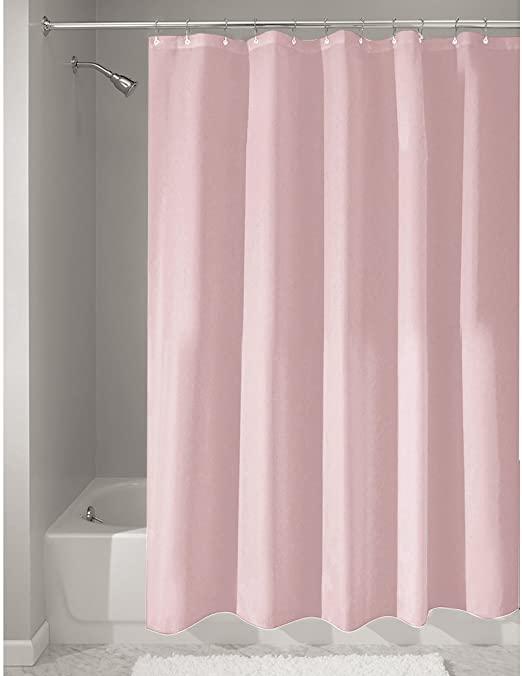 Amazon.com: iDesign Fabric Shower Curtain, Mildew-Resistant Bath .
