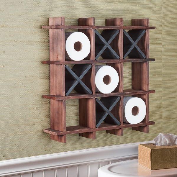 Shop Art & Artifact Tic-Tac-Toe Toilet Paper Holder - Freestanding .