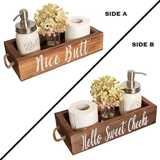 Amazon.com: MAINEVENT Nice Butt Bathroom Decor Box, 2 Sides .