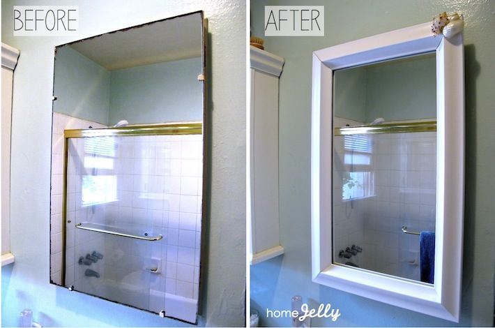 Frame out your old medicine cabinet for a totally fabulous .