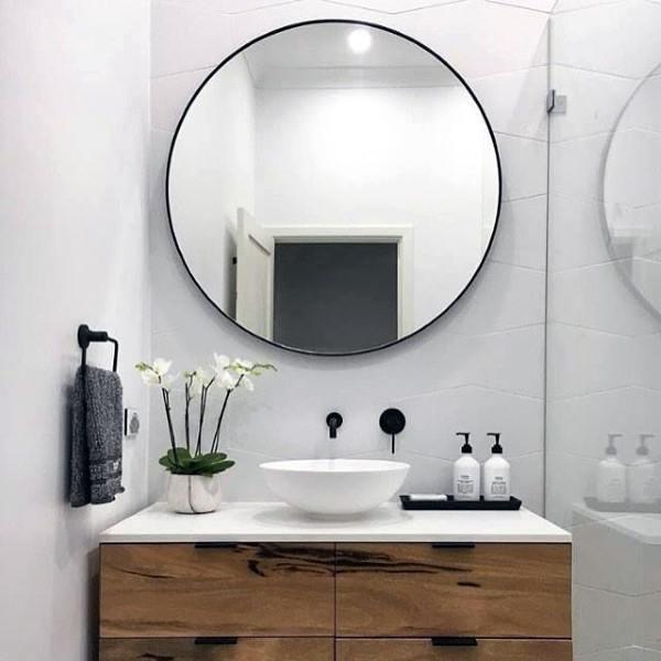 Top 50 Best Bathroom Mirror Ideas - Reflective Interior Desig