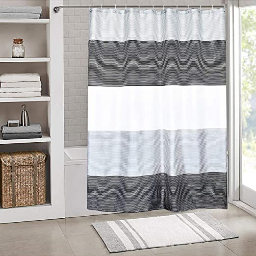 Amazon.com: SHE'S HOME Shower Curtain Set Waterproof,Stripes .