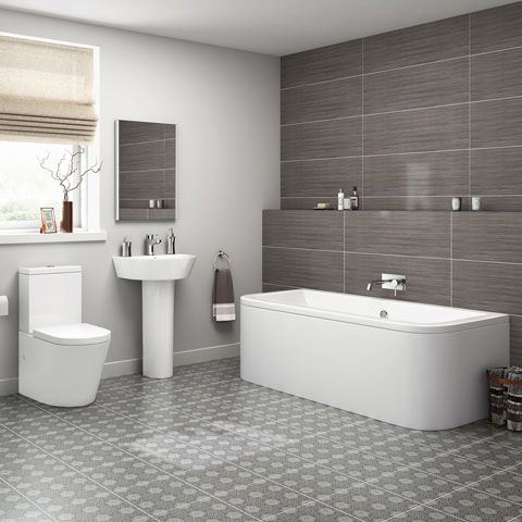 Contemporary & Traditional Bathroom Suites Online | soak.com .