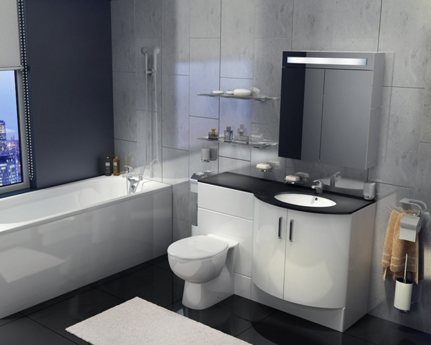 Designer Bathroom Suites - Image of Bathroom and Clos