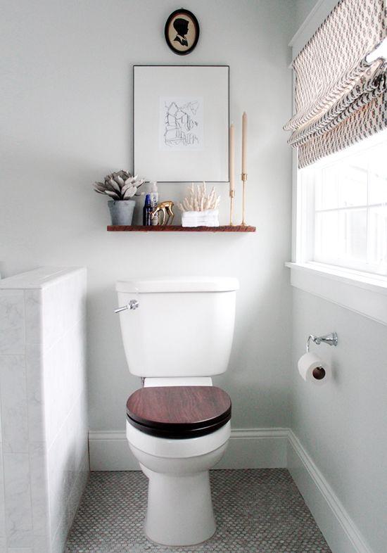 10 fancy toilet decorating ideas | Bathroom shelves over toilet .