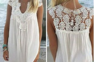 Naomi™ - Lace Beach Tunic Summer Dresses- Beach Dresses- Plus Size .