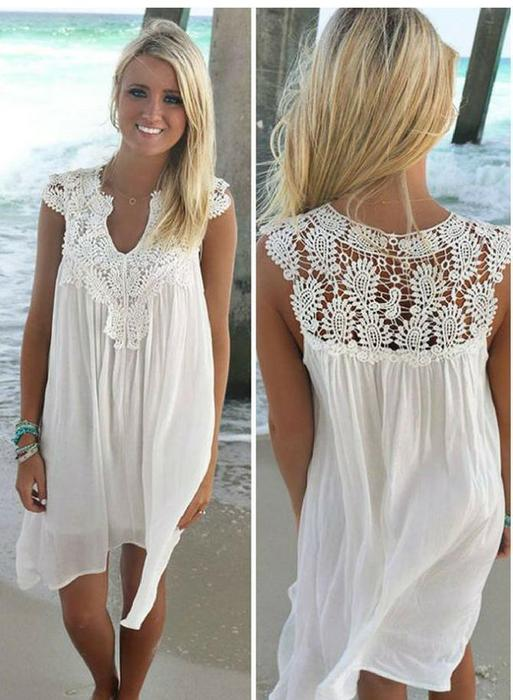 Naomi™ - Lace Beach Tunic Summer Dresses- Beach Dresses- Plus Size .