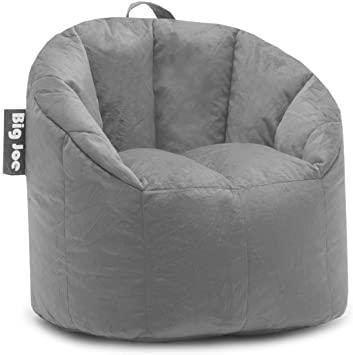 Amazon.com: Big Joe, 0638542 Milano Gray Plush Bean Bag Chair .
