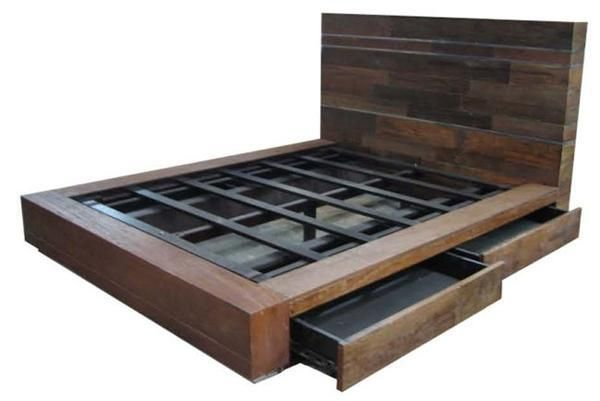 diy-platform-bed-plans-7.jpg (600×401) (avec images) | Meuble .