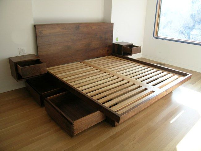Contemporary modern bed designs with storage (22) | Bed frame with .