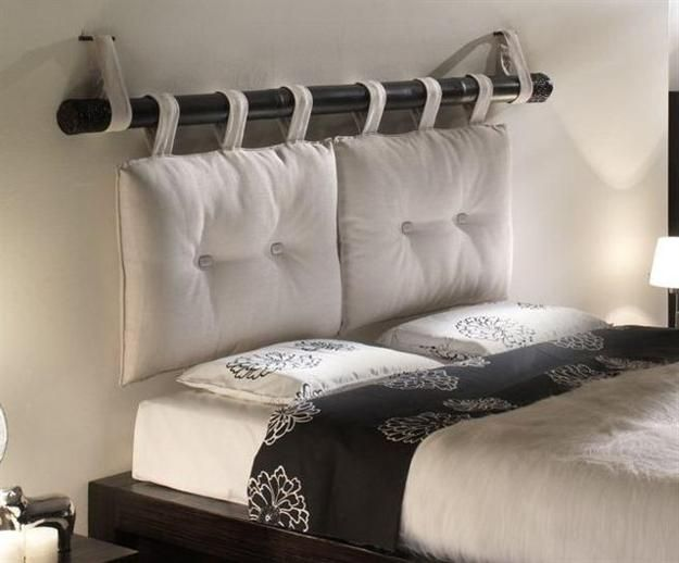 Removable DIY Bed Headboard Ideas Bringing Warmth and Softness .