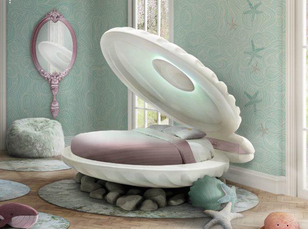 Elegant Kids Bedroom Accessories: Enchanting Mermaid bedroom .