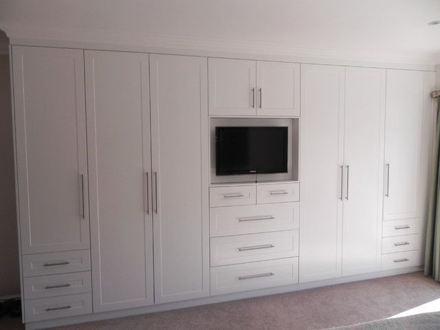 off white bedroom cupboards | Bedroom cupboard designs, Bedroom .