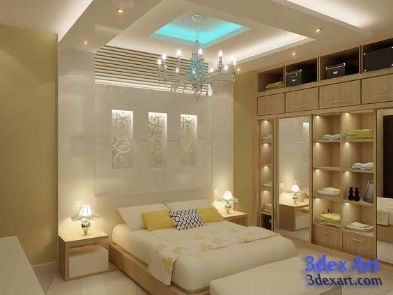 New false ceiling designs ideas for bedroom 2018 with LED lights .