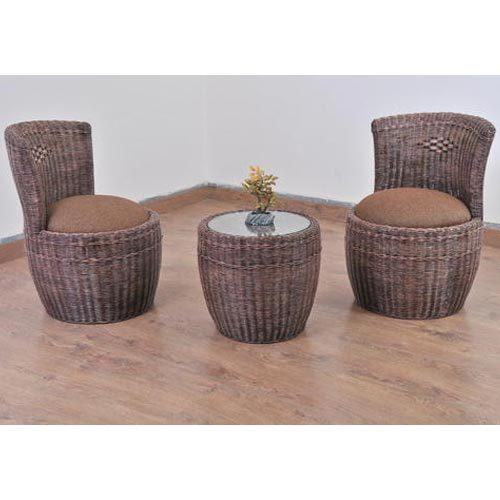 Modern Designer Bedroom Cane Chair with Table, Rs 24000 /pair .