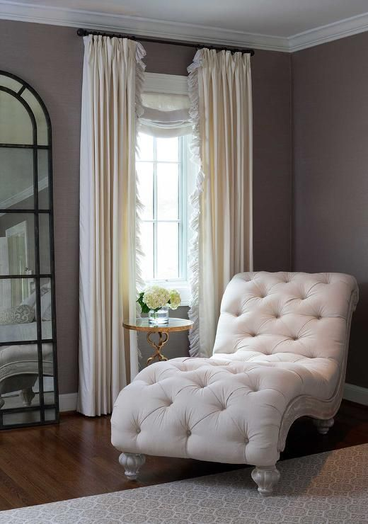 Bedroom Reading Corner French Chaise Lounge - Transitional .