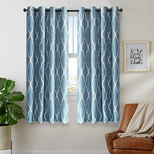 Amazon.com: Blue Moroccan Tile Curtains 72 inches Long for Living .