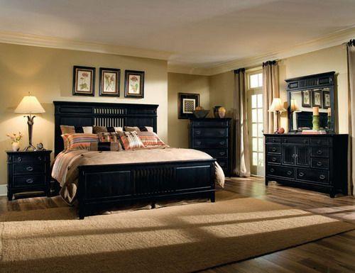Luxury-master-bedroom-with-black-furniture-ideas | Master bedroom .