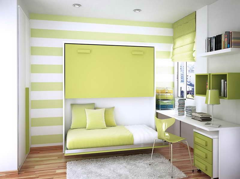 simple bedroom painting ideas with stripped design Love this .