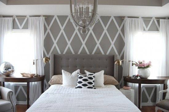 No Paint Diamond Wall (With images) | Home decor, Bedroom decor, Ho