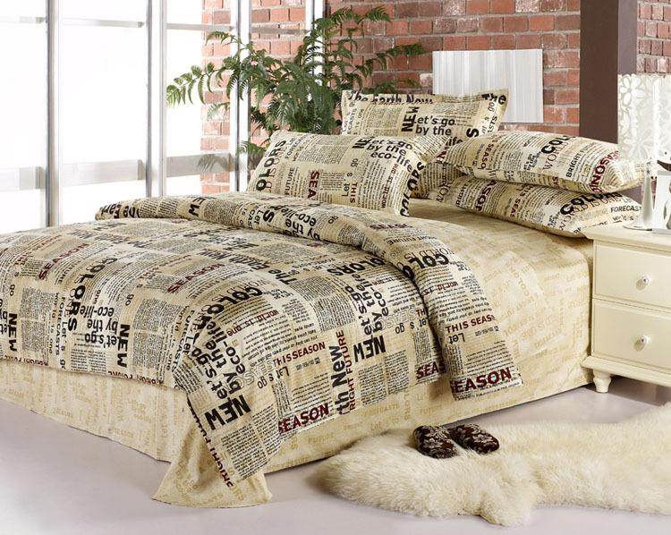 English Newspaper Bedding Comforter Set Queen Size Comforters Sets .