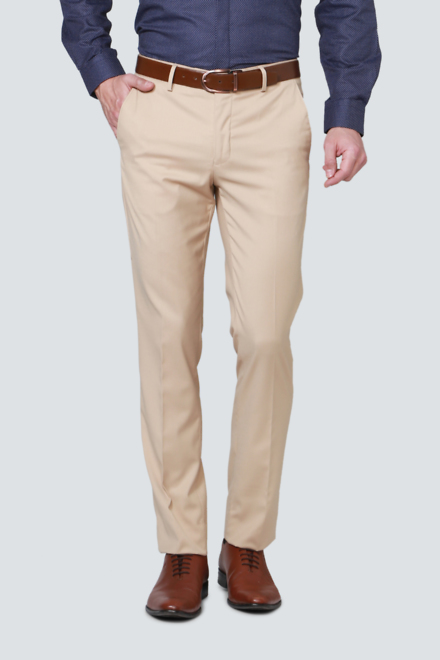 Louis Philippe Trousers & Chinos, Louis Philippe Beige Trousers .